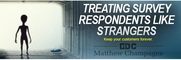 Treating Survey Respondents Like Strangers